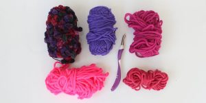 Wolle lila magenta pink